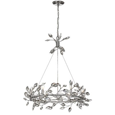Bosley 6-Light Crystal Chandelier Finish: Silver / Clear