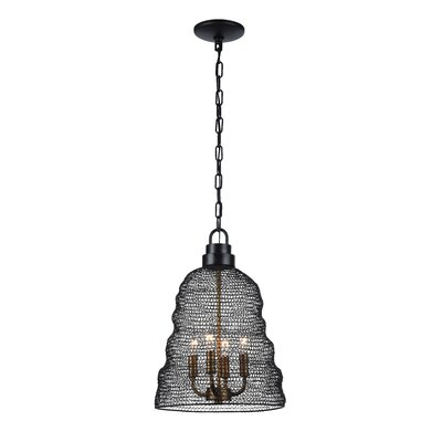 Jeavon 4-Light Metal Shade Bowl Pendant