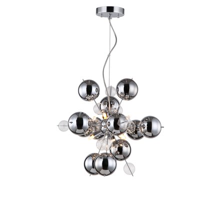 Louie 6-Light Pendant Size: 59 H x 17.71 W x 17.71 D