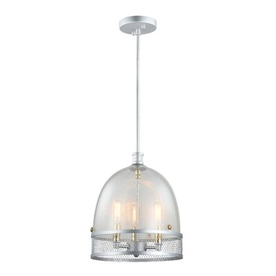 Nadav 3-Light Bowl Pendant Finish: Matte Silver