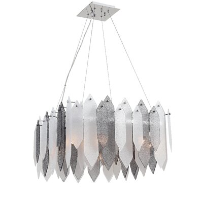 Stratus 8-Light Shaded Chandelier Shade Color: Smoke
