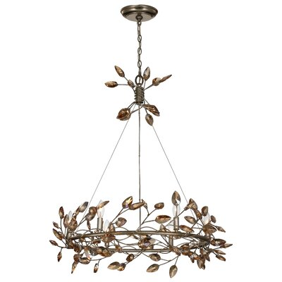 Bosley 6-Light Crystal Chandelier Finish: Antique Gold / Champagne