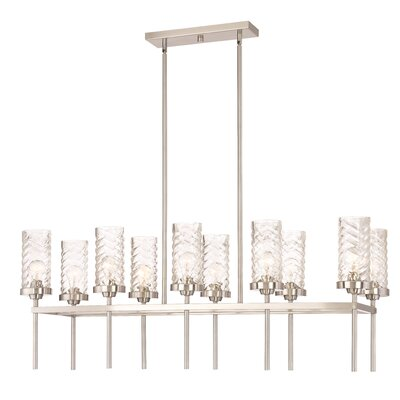 Triticus 10-Light Kitchen Island Pendant Finish: Brushed Nickel