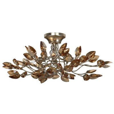Misthaven 4-Light Semi-Flush Mount Finish: Antique Gold / Champagne
