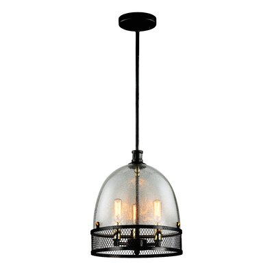 Nadav 3-Light Bowl Pendant Finish: Dark Bronze