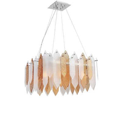 Dicle 8-Light Shaded Chandelier Shade Color: Amber