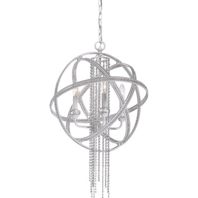 Cascade 4-Light Globe Pendant Finish: Satin White