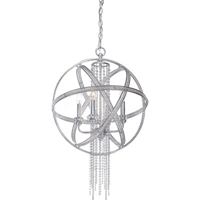 Cascade 4-Light Globe Pendant Finish: Silver Leaf
