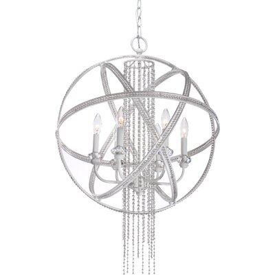Cascade 6-Light Globe Pendant Finish: Satin White