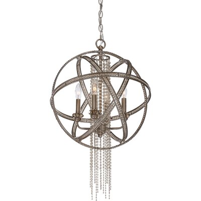 Kelson 4-Light Globe Pendant Finish: Silver Leaf Burnished