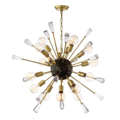 Axford 18-Light Cluster Pendant Finish: Aged Brass/Matte Black