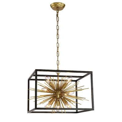 Burst 10-Light Candle-Style Chandelier