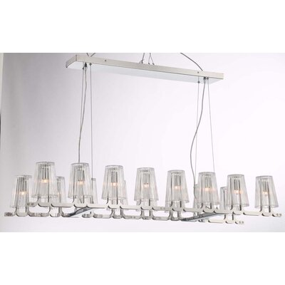 Glacial 16-Light Kitchen Island Pendant