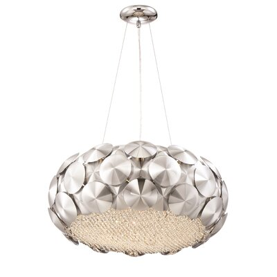 Crown 7-Light Drum Pendant Finish: Chrome