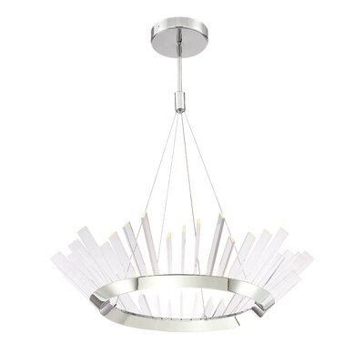 Berrian 1-Light LED Geometric Pendant Size: 8.25 H X 36 D