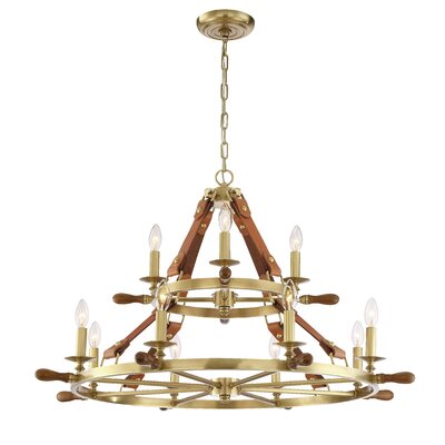 Carlisle 12-Light Candle-Style Chandelier