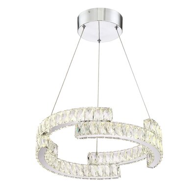 Shift 1-Light LED Crystal Pendant