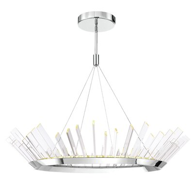 Halo 1-Light LED Geometric Pendant Size: 9 H X 47.6 D