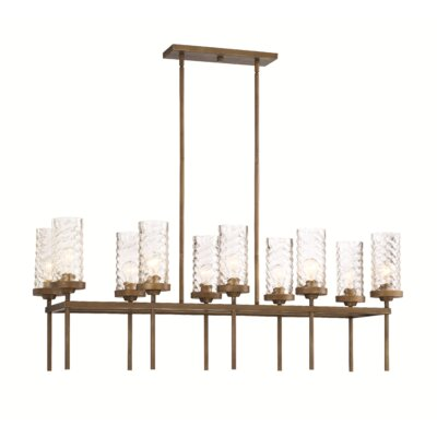 Herrod 10-Light Kitchen Island Pendant Finish: Antique Brass