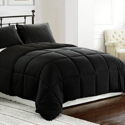 3 Piece All Season Down Alternative Comforter Set Size: King