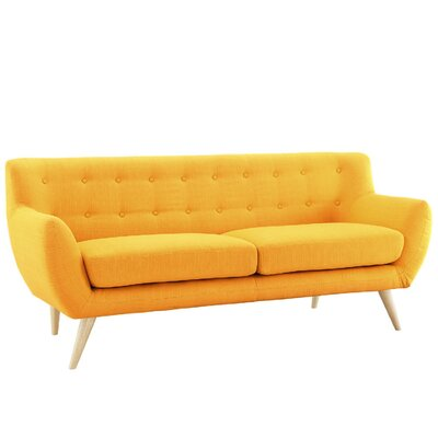 CAP15-2S-YELL MHUS1047 Madison Home USA Mid-Century Loveseat Upholstry