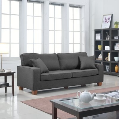 Modern Sofa Upholstery: Dark Grey