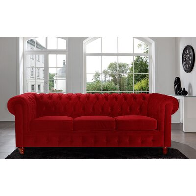CAP12VV-3PC-RED MHUS1053 Madison Home USA Chesterfield Sofa
