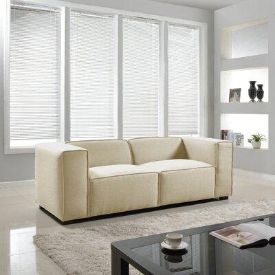Overstuffed Sofa Upholstery: Beige