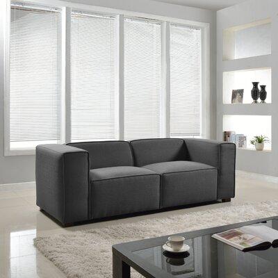 Overstuffed Sofa Upholstery: Grey