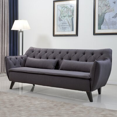 Madison Home USA EXP51-3S-LGR Mid Century Modern Sofa