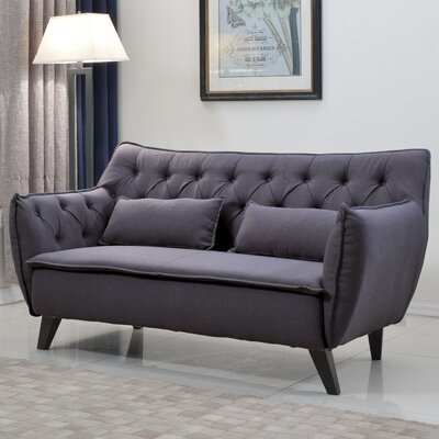 Madison Home USA EXP51-2S-LGR Mid Century Modern Loveseat