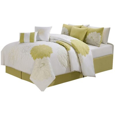 7 Piece Comforter Set Size: Queen, Color: Yellow