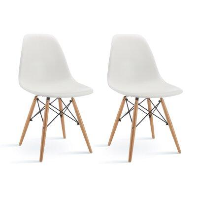 Vandorn Side Chair Upholstery: White