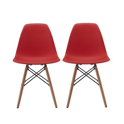 Vandorn Side Chair Upholstery: Red