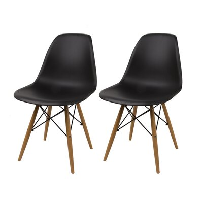 Vandorn Side Chair Upholstery: Black