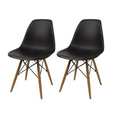 Vandorn Side Chair Upholstery: Black