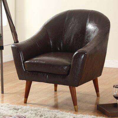 Mid Century Modern Barrel Chair Upholstery: Brown