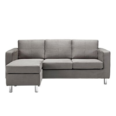 Madison Home USA CAP16-MF/GRY Reversible Chaise Sectional