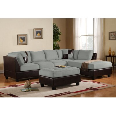 Madison Home USA CAP02-GR Reversible Chaise Sectional