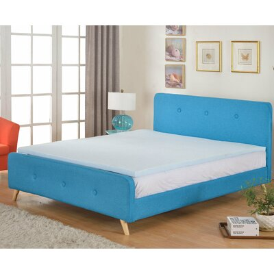 High Density Gel Memory Foam Mattress Topper Size: King