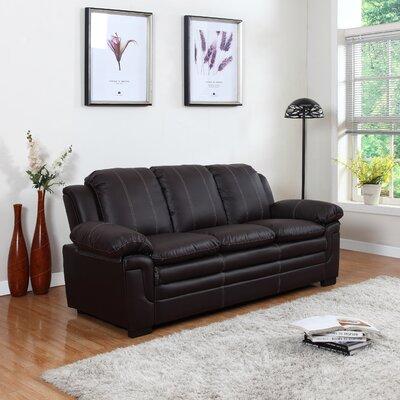 Sofa Upholstery: Brown