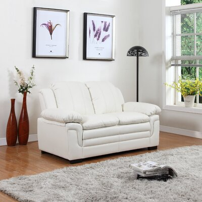 Loveseat Upholstery: White