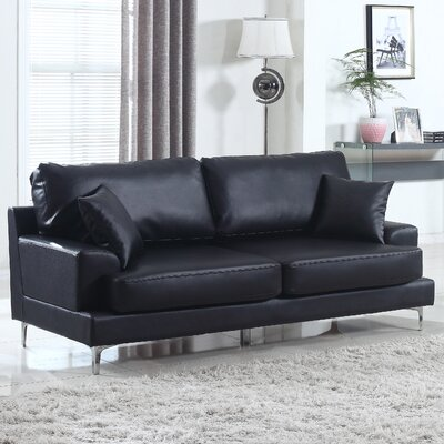 Ultra Plush Sofa Upholstery: Black