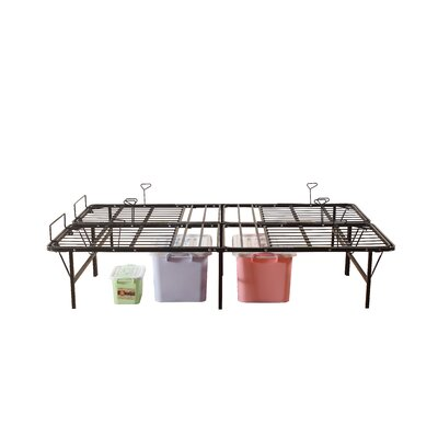 Premium Adjustable Metal Mattress Foundation/Platform Bed Frame Size: Twin