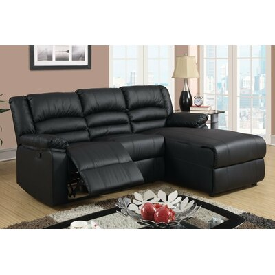 Madison Home USA EXP35-BLK Reclining Sectional