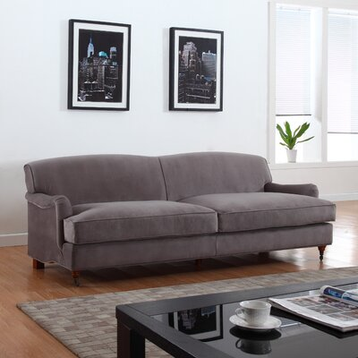 Mid-Century Modern Large Sofa Upholstery Color: Gray