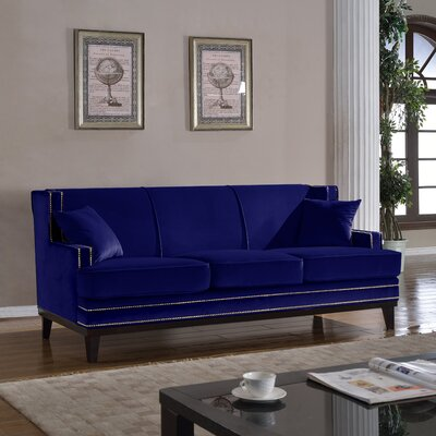 Modern Sofa Upholstery Color: Royal Blue