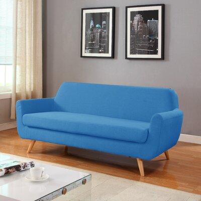 Mid-Century Sofa Upholstery: Blue