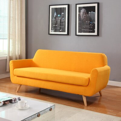 Mid-Century Sofa Upholstery: Yellow