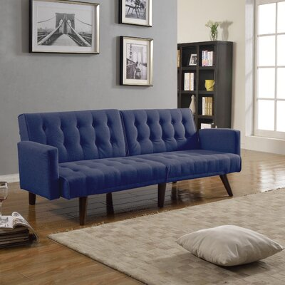 Madison Home USA CAP17J-BE Mid Century Convertible Sofa